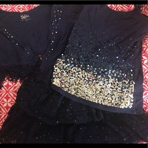 Justice 3 pc sequin Set Sz 8